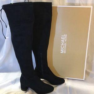 NEW! Michael Kors Jamie Mid Boot in black suede